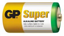 Alkalická baterie GP Super LR20 (D), 2 ks ve fólii